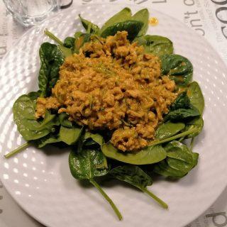 Kyllingegryde med spinat #blivfitnu